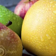 Fraicheur de la pomme en lumière naturelle