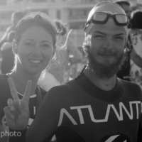 Happiness before the first triathlon ever ! - Triathlon Marseille M-L Distances - France