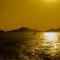 Golden Sunset - Ile du Frioul - Chateau d'If - Marseille - France