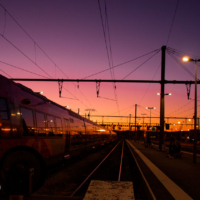 Sunset Gare SNCF - Avignon - France