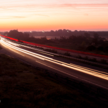 sunrise A54 Motorway - St Martin de Crau - France