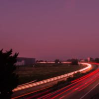 A54 Tracing Lights - St Martin de Crau - France
