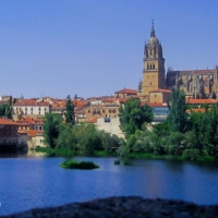 City and Cathedral in Salamanca - Spain
