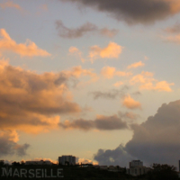 Clouds & Rising Sun over Marseille - France