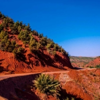 Dans la Vallée de l'Ouririka vers Marrakech - Maroc