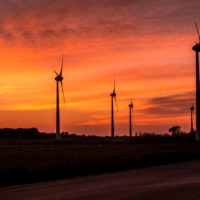 Sunset Windmills 1