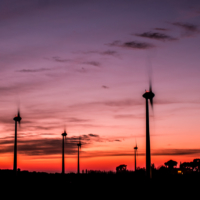Sunset Windmills 3