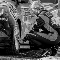 Checking tire pressure - St Leger les Mélèzes - France -