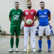 Avant le match - Capitaines - Arbitre - AFC - Gallia Club Uchaud Futsal - Lançon de Provence - France