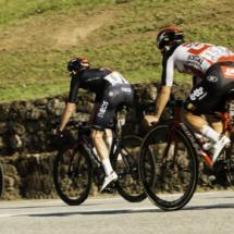 Luke Rowe N°6 - INEOS - Caleb Ewan N°151 Lotto Soudal - Cyril Barthe N°212 B&B Hotels-Vital Concept - Tour de France 2020 - St Jean de Sixt - France