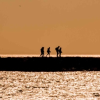 Sunset on the pier - Saintes Maire de la Mer - France