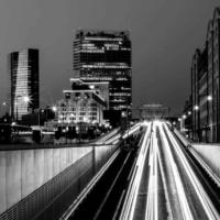 Marseille by Night bnw - France