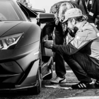 Sticker N° on Lamborghini - Supercar Experience - Mont Ventoux - France